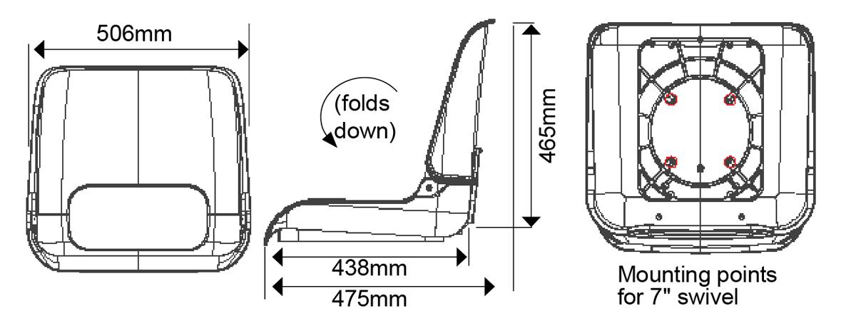 Skipper Seat Dimensions