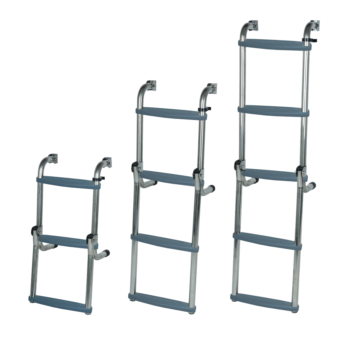 Long Base Stainless Steel Ladders