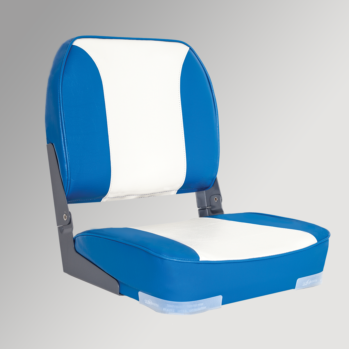 Deluxe Folding Boat Seat Blue/White
