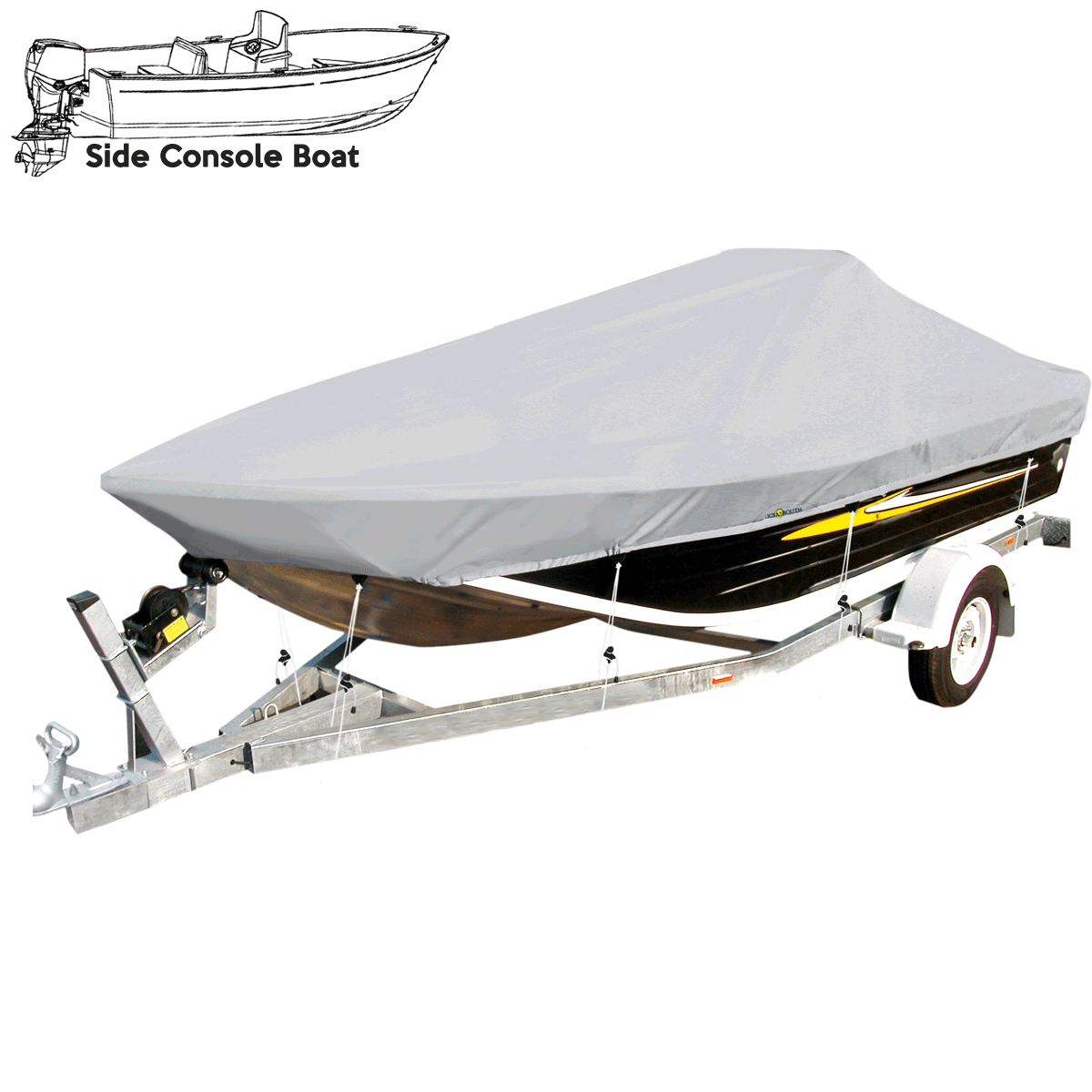 Side Console Boat Cover