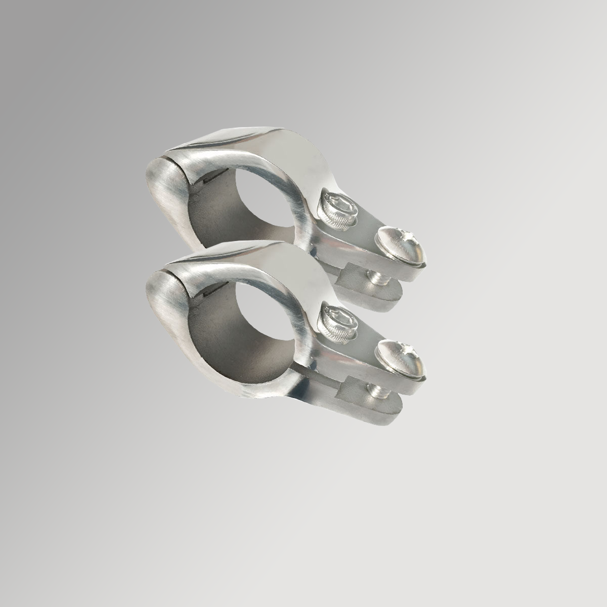 Hinged Jaw Slides 25mm x 2 - Stainless Steel