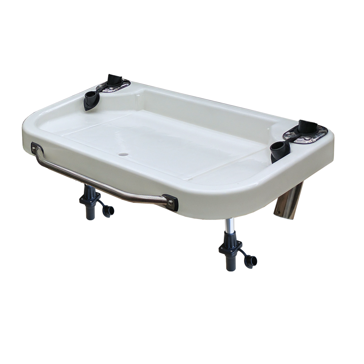 Extra Large Heavy Duty Bait & Fillet Table with Handle and Rod Holders