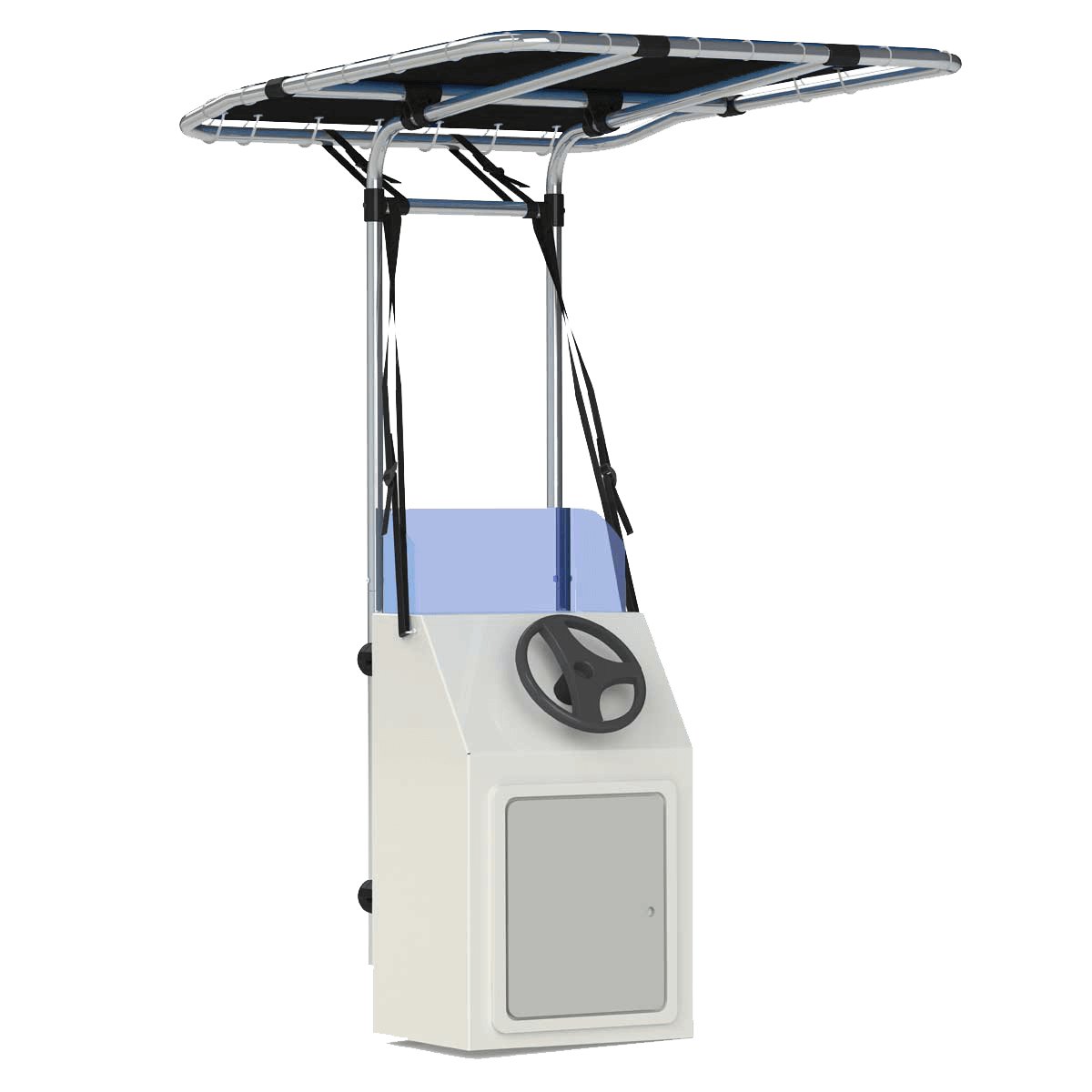Retractable Seagull T-Top Front Mount Blue