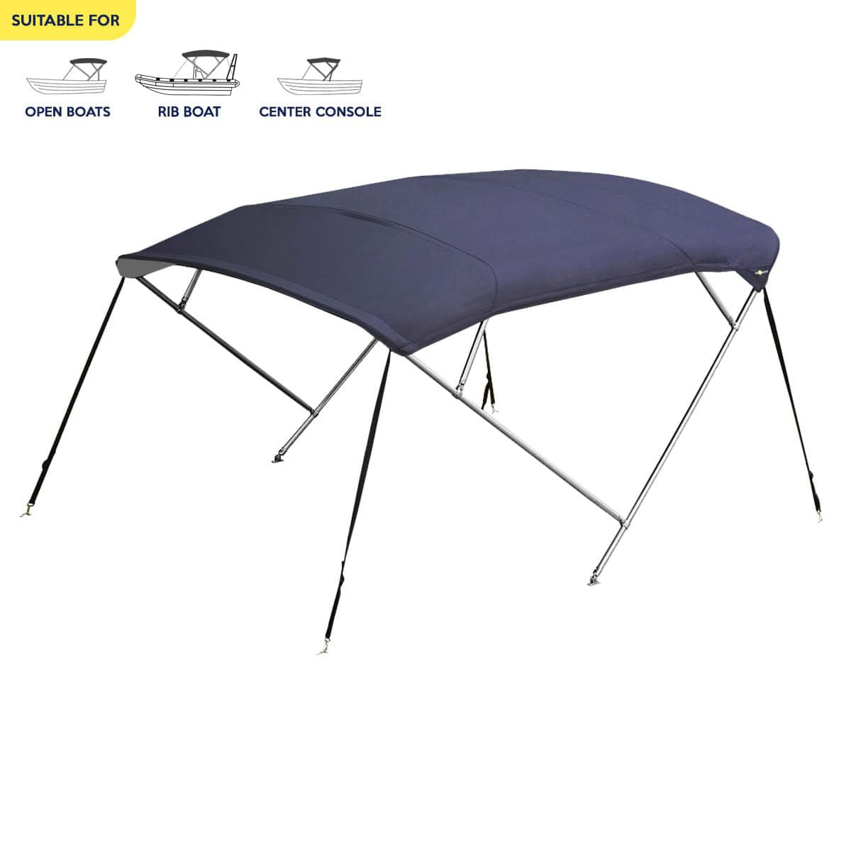 Stainless Steel 4 Bow Bimini Top/Canopy