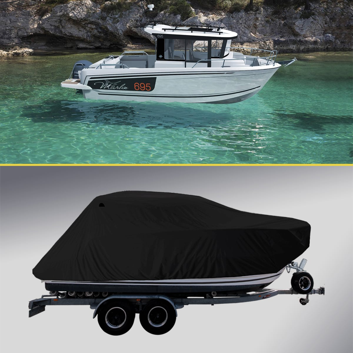 Boat Cover for Jeanneau Merry Fisher Marlin