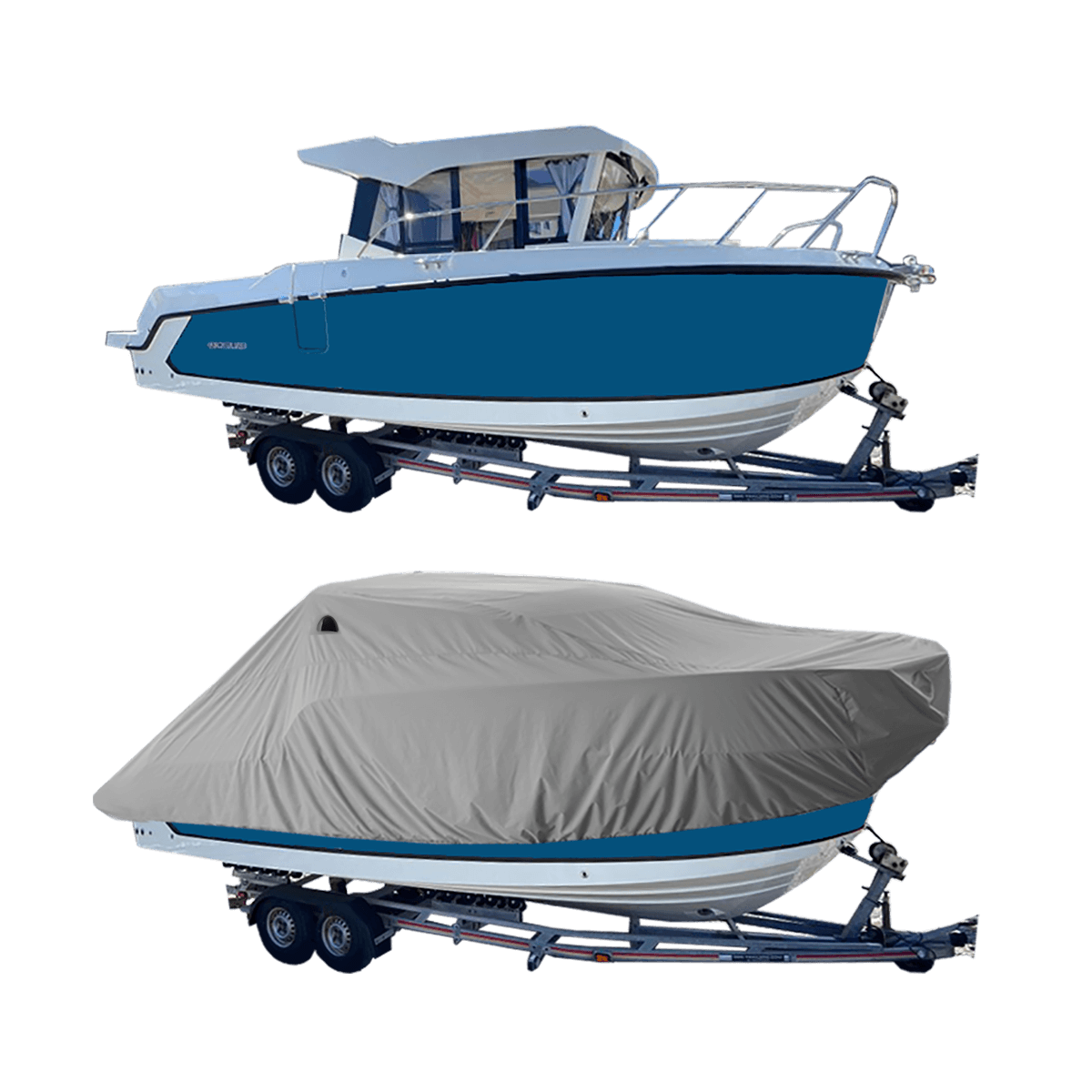 Boat Cover Grey for Quick Silver 805 Pilot Boat