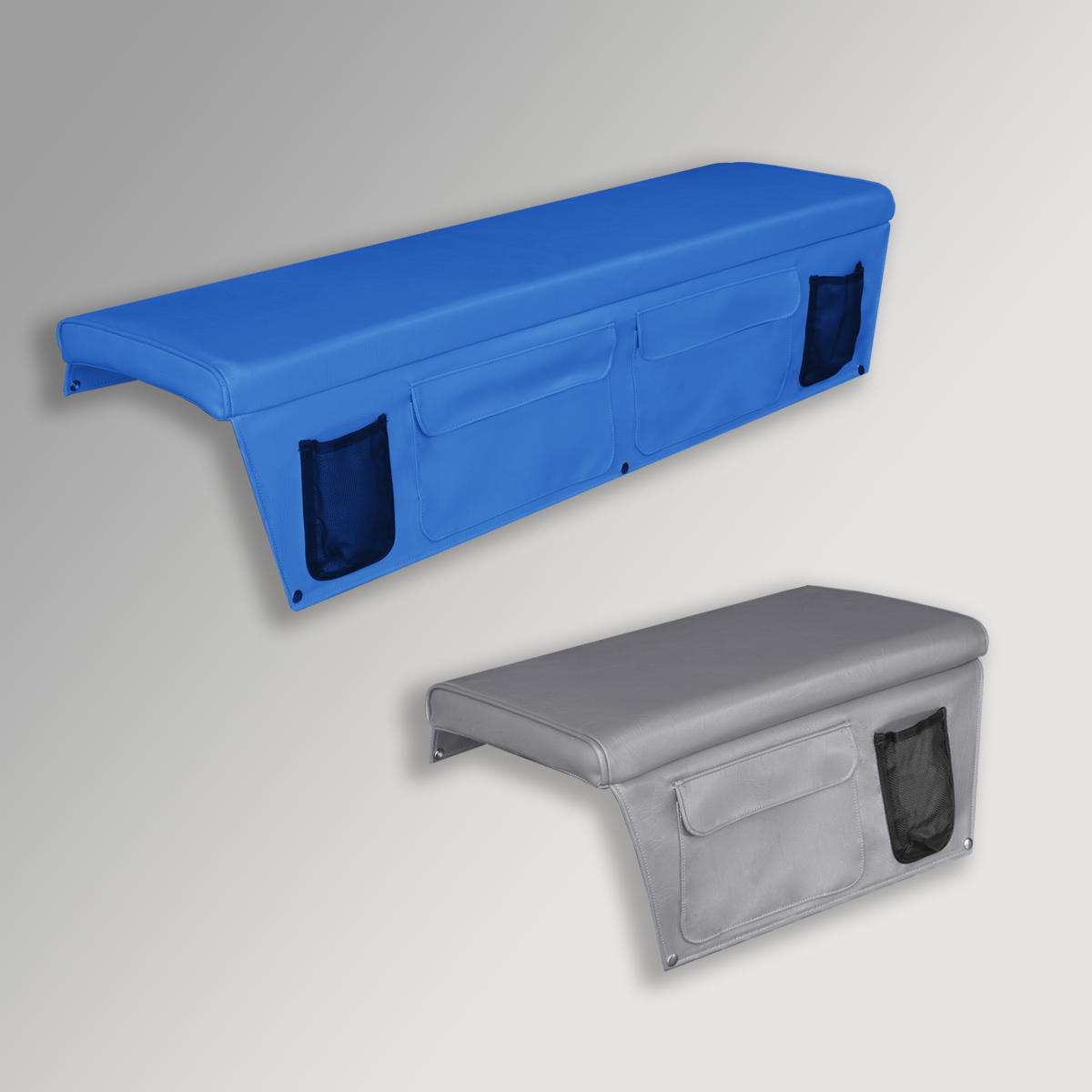 Boat Bench Cushions with Side Pockets