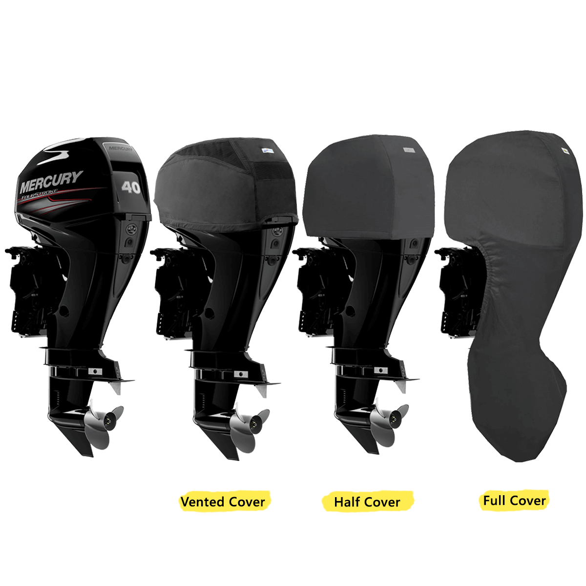 Oceansouth Covers for Mercury Outboards