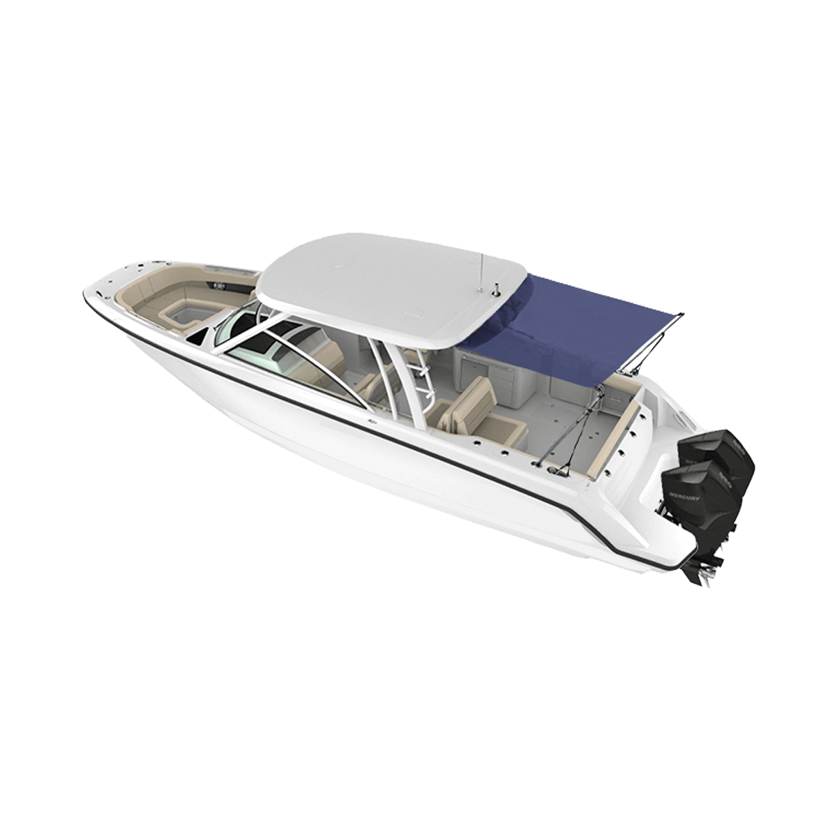 Hard Top Stern Shade Extension Kit Blue